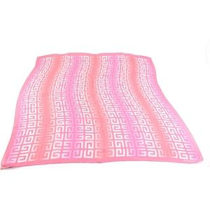 """GIVENCHY: Pink, Ombre """"G"""" Logo 100% Silk, Scarf mx"""